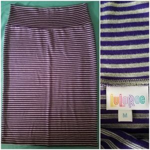 LulaRoe Striped Pencil Skirt
